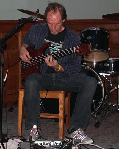 A solo bass set at the Wolverine Grille in North Conway. 2013